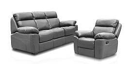 """Кожаный комплект мебели """"Alabama"""" (Алабама): раскладной диван и кресло-реклайнер"""