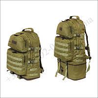 Тактический рюкзак 40 - 60 литров трансформер олива для военных, туристов, рыбалки нейлон