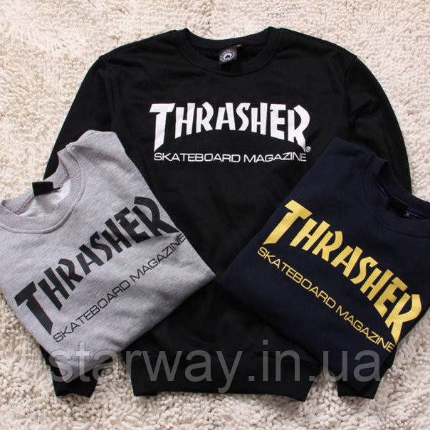 Свитшот женский | принт THRASHER Skateboard Magazine | Кофта