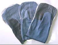 Перчатки рабочие джинсовые  с двойным наладонником 250 гр