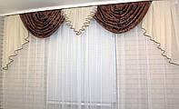 """Ламбрекен из плотной ткани """"Полина""""  Код: 063л069"""