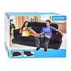 Раскладной велюровый диван-трансформер 2в1 Intex 193х221х66 см (68566), фото 3