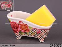 """Подставка для кухонной губки """"Классические розы"""""""