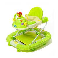 Ходунки детские с игровой панелью и качалкой TILLY 5209 GREEN салатовые