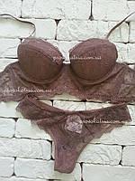 Кружевной комплект белья. Бралетт + бразильяна 04-1021 04-2012 Texaleksa