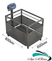 Весы для взвешивания поросят от 0,2 до 60 кг, размер платформы 600* 800 мм