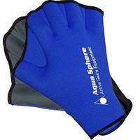 Рукавички для плавання VELCRO (синій)  р.LG