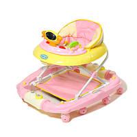 Ходунки с качалкой TILLY 9102 PINK розовые, ходунки для девочки