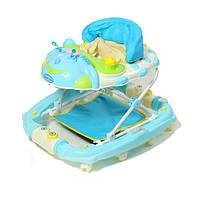 Ходунки детские с качалкой TILLY 22188 BLUE голубые, ходунки для мальчика