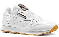 """Кроссовки Reebok Original Classic Leather white camo/""""Tiger Camo"""" женские/подростковые белые, фото 1"""