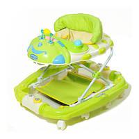 Ходунки для малышей с игровой панелью и качалкой TILLY 22188 GREEN салатовые