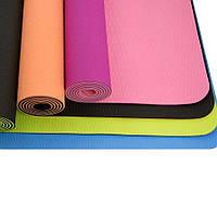Коврик для йоги и фитнеса (йога мат) OSPORT TPE+TC (TPE 6)