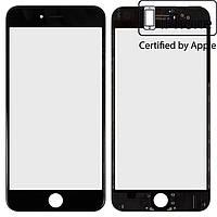 Защитное стекло корпуса для Apple iPhone 6 Plus, с рамкой, с OCA-пленкой, оригинал (черное)