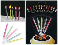 Свечи для торта с цветным пламенем набор из 5 шт.