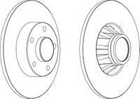Диск тормозной задний (-подшипник/-кольцо ABS) Trafic2/VivaroA PREMIER FERODO