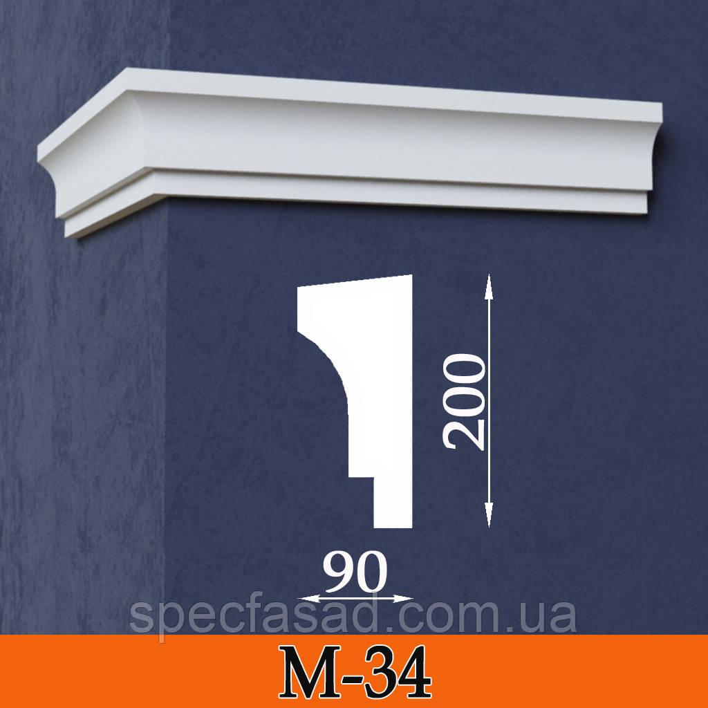 Карниз межэтажный декоративний М-34