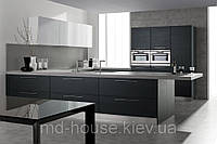 Черно-белая кухня Шелк, фото 1