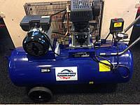 Компрессор поршневой 100 литров рессивер на 220В