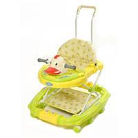 Детские ходунки TILLY 683Y-1 GREEN уточка, ходунки для малышей
