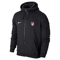 Спортивная толстовка (кофта) Атлетико-Найк, Atletico, Nike, с капюшоном, черная, ф4405