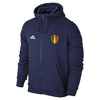 Спортивная толстовка (кофта) сборной Бельгии-Адидас, Belgium, Adidas, с капюшоном, синяя, ф4413