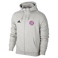 Спортивная толстовка (кофта) Бавария-Адидас, Bavaria, Adidas, с капюшоном, белая, ф4409