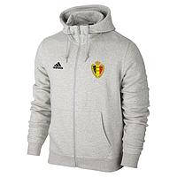 Спортивная толстовка (кофта) сборной Бельгии-Адидас, Belgium, Adidas, с капюшоном, белая, ф4412
