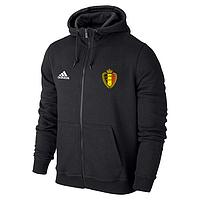 Спортивная толстовка (кофта) сборной Бельгии-Адидас, Belgium, Adidas, с капюшоном, черная, ф4414