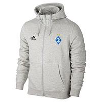 Спортивная толстовка (кофта) Динамо-Адидас, Dinamo, Adidas, с капюшоном, белая, ф4423
