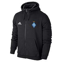 Спортивная толстовка (кофта) Динамо-Адидас, Dinamo, Adidas, с капюшоном, черная, ф4425