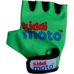 Велоперчатки детские Kiddi Moto неоновые зелёные (BB)