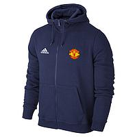 Спортивная толстовка(кофта)Манчестер Юнайтед-Адидас, ManchesterUnited,Adidas,с капюшоном,синяя,ф4442
