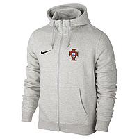 Спортивная толстовка (кофта) Сборная Португалии-Найк, Portugal, Nike, с капюшоном, белая, ф4450