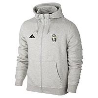Спортивная толстовка (кофта) Ювентус-Адидас, Juventus, Adidas, с капюшоном, белая, ф4474
