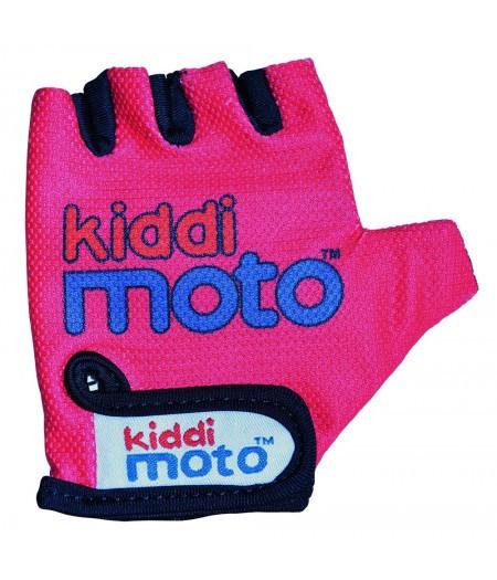 Велоперчатки детские Kiddimoto неоновые розовые (BB)