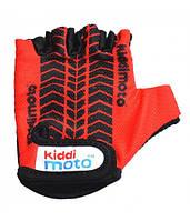 Велоперчатки детские Kiddimoto с рисунком протектора, красные (BB)