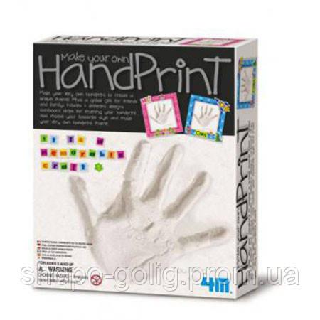 Отпечаток руки с рамочкой. 4М Набор для творчества - SHOPOGOLIG интернет магазин  в Киевской области