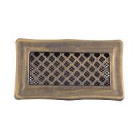 Каминная вентиляционная решетка Deco, золотая патина