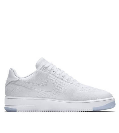 Мужские кроссовки Nike Air Force 1 Flyknit Low White White Ice