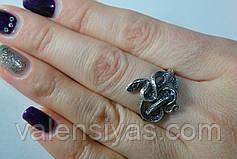 Серебряное кольцо Змея, фото 2