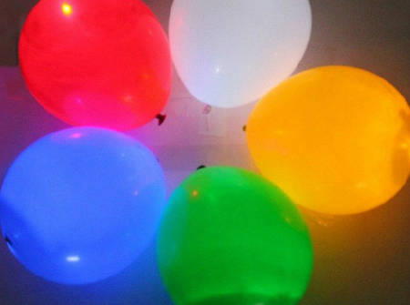 Воздушные шарики с LED подсветкой (набор 5шт)