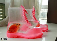 Ботинки силиконовые женские Прозрачные