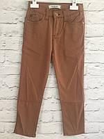 Штаны коричневые  для мальчиков. Хлопок. 98-122