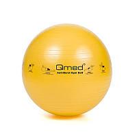 Фитбол - Qmed ABS Gym Ball 45 см. Гимнастический мяч для фитнеса. Желтый