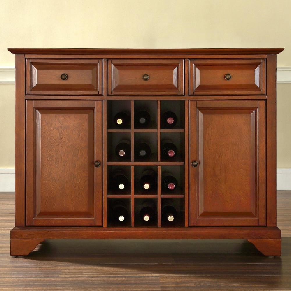 Комод для зберігання вина і принадлежносте
