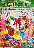 """Воздушные шарики 100 шт 10"""" Разноцветные"""
