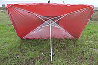 Зонт для уличной торговли 3х3 с серебряным напылением и ветровым клапаном
