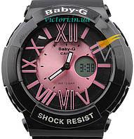 Женские спортивные часы Casio Baby-G BGA-160 Black-Rose (Касио)
