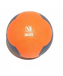 Медбол твердый 3 кг MEDICINE BALL LiveUp LS3006F-3