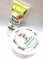 Набор скраб+крем и крем для рук молочный